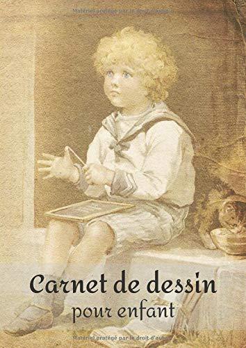 Carnet de dessin pour enfant: Grand cahier de dessin pour les enfants (100 page blanches, format A4) - avec un enfant qui réfléchit