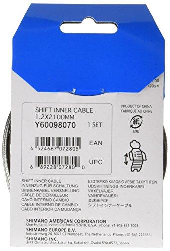Shimano Schaltzug 1,2mm x 2100mm verzinkt, Y60098070 - 2
