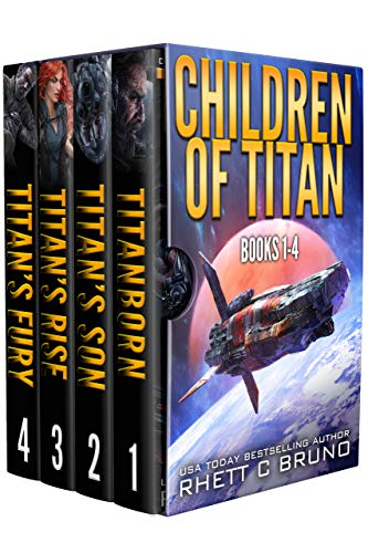 Children of Titan Series: Books 1-4: (A Space Opera Thriller Box Set) (English Edition)