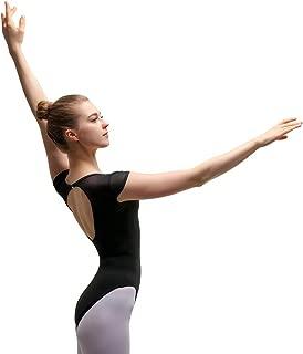 Bezioner Ballet Leotards for Women Open Back Dance Leotards for Girls Cap Sleeve
