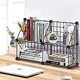 4-cubo BRICOLAJE Librería de rejilla de alambre, estantería de almacenamiento modular de múltiples usos, gabinete de armario de organizador abierto para libros, juguetes, organizadores armados estante
