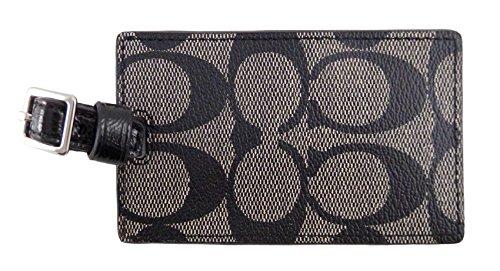 Coach Signature PVC Black White/black Luggage Tag F77590