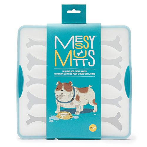 Messy Mutts Blue Silicone 15 Large Bone Bake and Freeze...