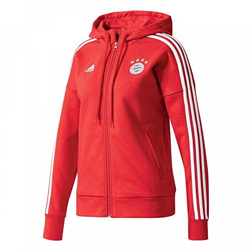 adidas FC Bayern München 3 Stripes Kapuzenjacke Damen M - 38/40