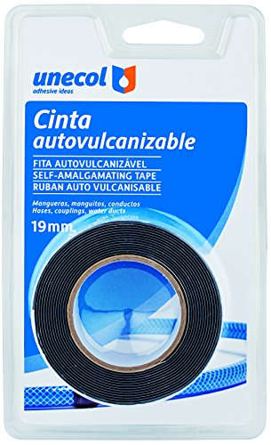 Unecol 8444 Cinta auto vulcanizable (blíster con rollo), Negro, 2,5 m x 19 mm