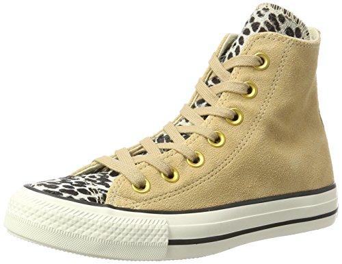 Converse Unisex-Erwachsene CTAS HI Hohe Sneaker, Mehrfarbig (Light Fawn/Black/Egret), 39 EU