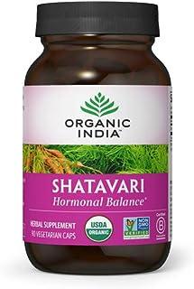 Organic India Shatavari Herbal Supplement - Supports Hormonal Balance, Immune and Inflammatory Response, Ve...