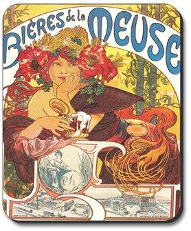 Mucha - Bieres De La Meuse - Art Plates Brand Mouse Pad