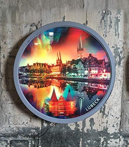 Außergewöhnliche Leuchte Lampe LED Geschenk Lübeck Kunst