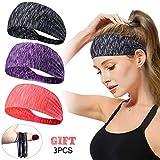 Women Men Sport Workout Headband Non Slip Lightweight Soft Wicking Stretchy Multi Style