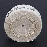 綿のリボンの縫製タグ リボンのフォント キャンディー ボックス ギフト包装 カード作りの工芸品(Sewing needle thread, Black)