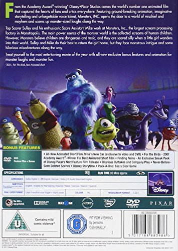 Monsters Inc. [DVD] [2002]