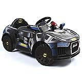 Hauck Toys Coche Eléctrico para niños diseño Batmóvil - Coche de batería Batman con Luces LED, cinturón y Puertas de Tijera - Negro