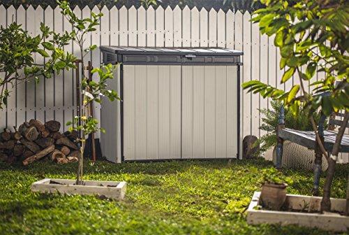 Keter Store It Out Premier XL Outdoor Plastic Garden Storage Shed, Grey and Black, 141 x 82 x 123.5 cm Garden Storage & Housing
