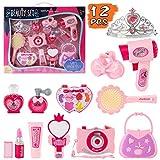Fedio Girls Pretend Play Beauty Set Salon Toy Kit for Kids Make Up Kit Beauty Toy Hair Styling Set Toddler...