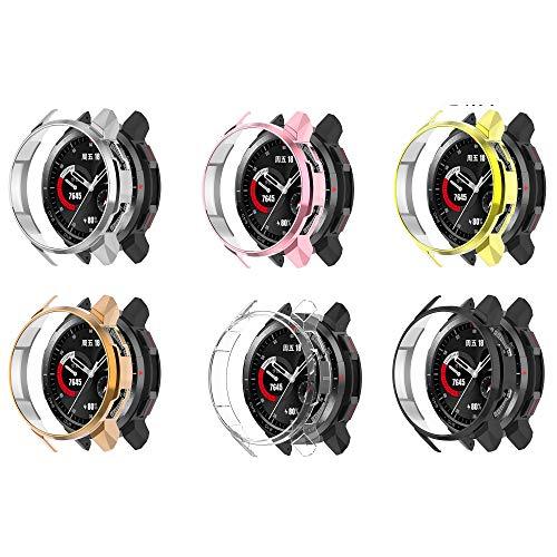 Ruentech - Carcasa compatible con Huawei Honor Watch GS PRO funda protectora protector de pantalla de TPU suave (6)