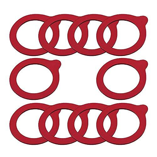 Viva-Haushaltswaren 10 Weckringe / Gummiringe / Einmachringe 65x90mm / passend für diverse Bügelverschluss-Gläser 0,25l bis 1l