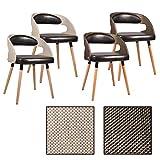 ESTEXO 2/4/6/8x Esszimmerstuhl Modell Ragna Farbe Hellbraun/Dunkelbraun, Esszimmerstühle, Rattan, Küchenstuhl, Essstühle, Stuhlgruppe (6 Stück, Dunkelbraun)