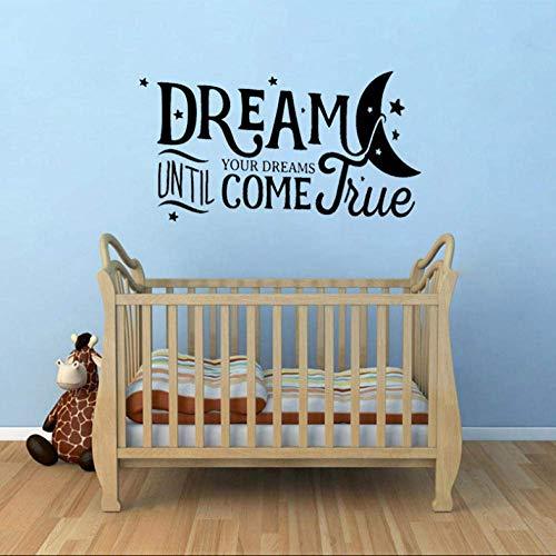 Muursticker droom tot je dromen komen waar huis Decor PVC woonkamer muur Sticker 65 Cm*34,6 Cm