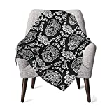 Day Dead Mexican Dia Los Muertos Holidays Soft Baby Blankets Super Cozy Newborn Receiving Blanket Warm Nursery Bed Blankets Suitable for All Seasons