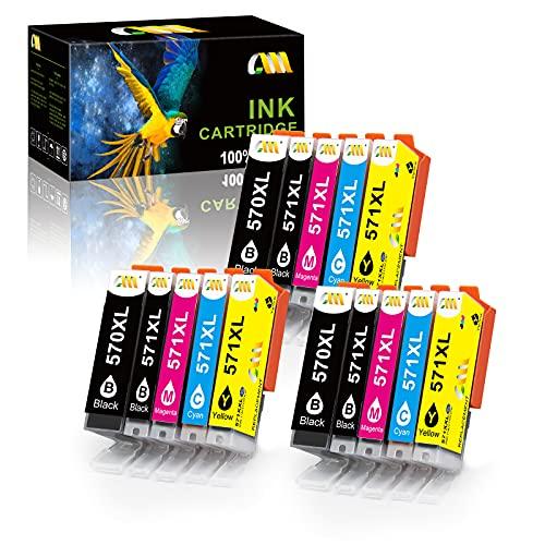 CMCMCM Sostituto per Canon PGI-570XL CLI-571XL Cartucce d'Inchiostro Compatibili con le Cartucce d'Inchiostro Canon Pixma MG6850 TS6050 MG5750 TS5050 TS5051 MG6851 MG5751 MG5753 TS5053 MG5700