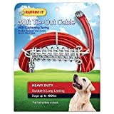 RUFFIN' IT Heavy Duty 30 ft. Cable Tie-Out for Dogs, 1700# Strength for Dogs Up to 100 lbs.