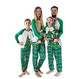 K-Youth Ropa para Padres e Hijos Pijamas de Navidad Familiar Conjuntos Bebe Niño Navidad Disfraz Ropa de Dormir Familiares Ropa Mujer Hombre Bebé Niña Chandal (Papá/Hombre árbol de Navidad, M)
