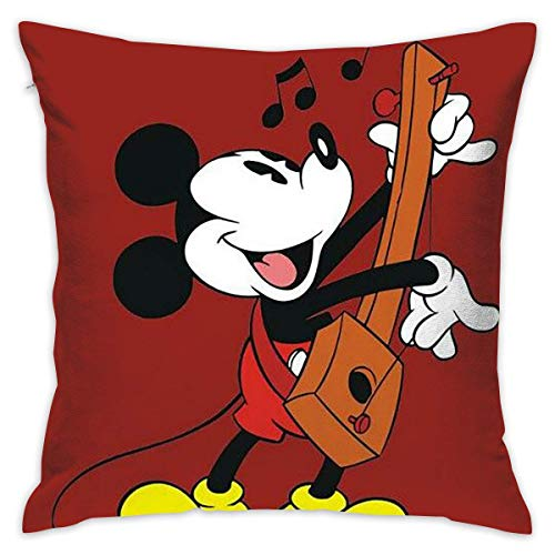 Gypsophila Pillow Cover Cushion Cover Mickey Mouse Decorative Pillow Case Sofa Seat Car Pillowcase Soft 18x18 Inch