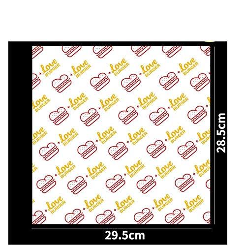 VWCDO Veel Papier hamburger Grade Vet Papier Voedsel Wrappers Inpakpapier Voor Brood Sandwich Burger Fries Oliepapier Bakgereedschap