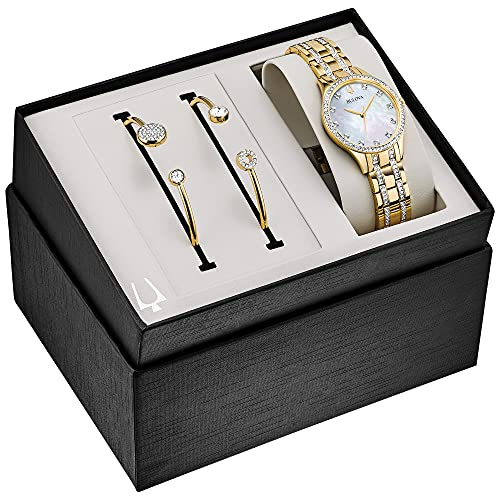 Bulova - Reloj de vestir automático de acero inoxidable para mujer, color: dos tonos (modelo: 98 x 119)