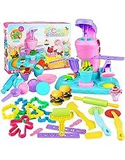 Yojoloin Outils de Pâte À Modeler, 30 pièces Accessoires Pate a Modeler,Moules Moule à Crème Glacée Bricolage Cadeaux Créatifs pour Garçons et Filles