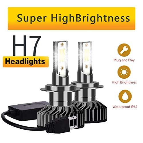 YCSD H7 Xenon Style Lampen Halogen, 2X H7-Scheinwerferlampe, Xenon Look Lampen Weiss .Auto Abblendlicht Fernlicht Glühlampen H7