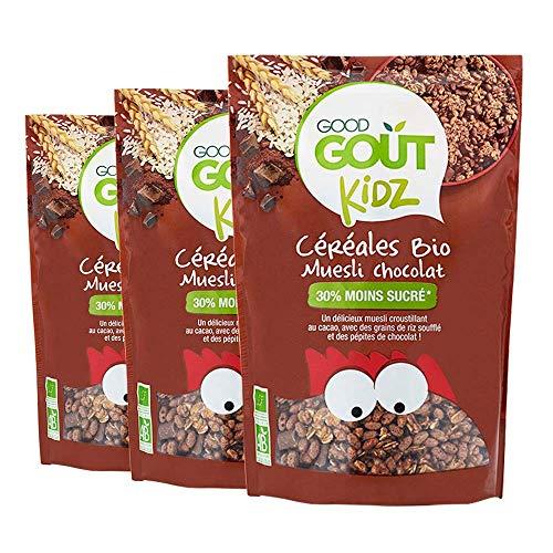 Good Goût Kidz - BIO - Lot de 3 sachets Céréales Muesli Chocolat 300g dès 3 ans - Lot de 3