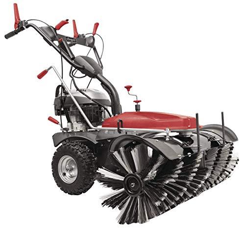 Scheppach Kehrmaschine mit Motor SC2200PE (6,5 PS, Kehrbreite 100cm, 70 L Auffangbehälter, Elektro-Start, 3 Vorwärts & 1 Rückwärtsgang, Schneefräse) inkl. Auffangbehälter und 105 cm Schneeschild