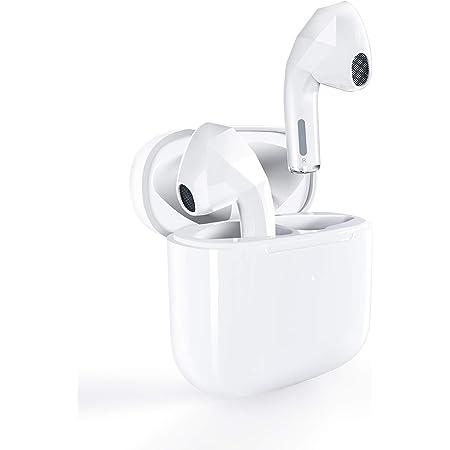 ELEPHAS Bluetooth イヤホン ワイヤレス 無線 完全ワイヤレスイヤホン Bluetooth5.0対応 IPX4防水規格 ホワイト