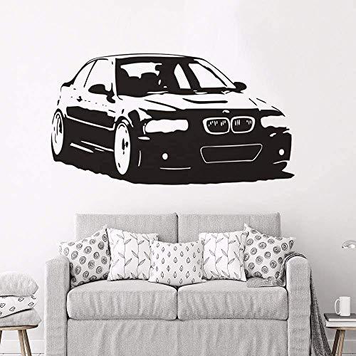 Vinilo Ventiladores de coches Calcomanía BMW M3 Series Etiqueta de la pared del coche Mural Decoración para el hogar Nuevo diseño extraíble Moda Coche Pared Arte Murales 78 * 42Cm