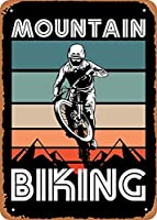 "RCY-T Mountain Biking Retro Mountain Biking Gift Wall Art 12""x 8"" 金属スズレトロヴィンテージサイン"