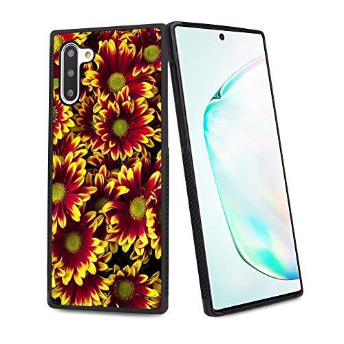 UZEUZA Carcasa para Samsung Galaxy Note 10, resistente a los golpes, diseño de flores, color negro