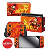 Controller Gear Officially Licensed Nintendo Switch Skin & Screen Protector Set - Donkey Kong - 'Diddy Kong Blast Off' - Nintendo Switch