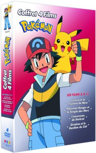 Coffret 4DVD Pokemon Films 8-9-10-11