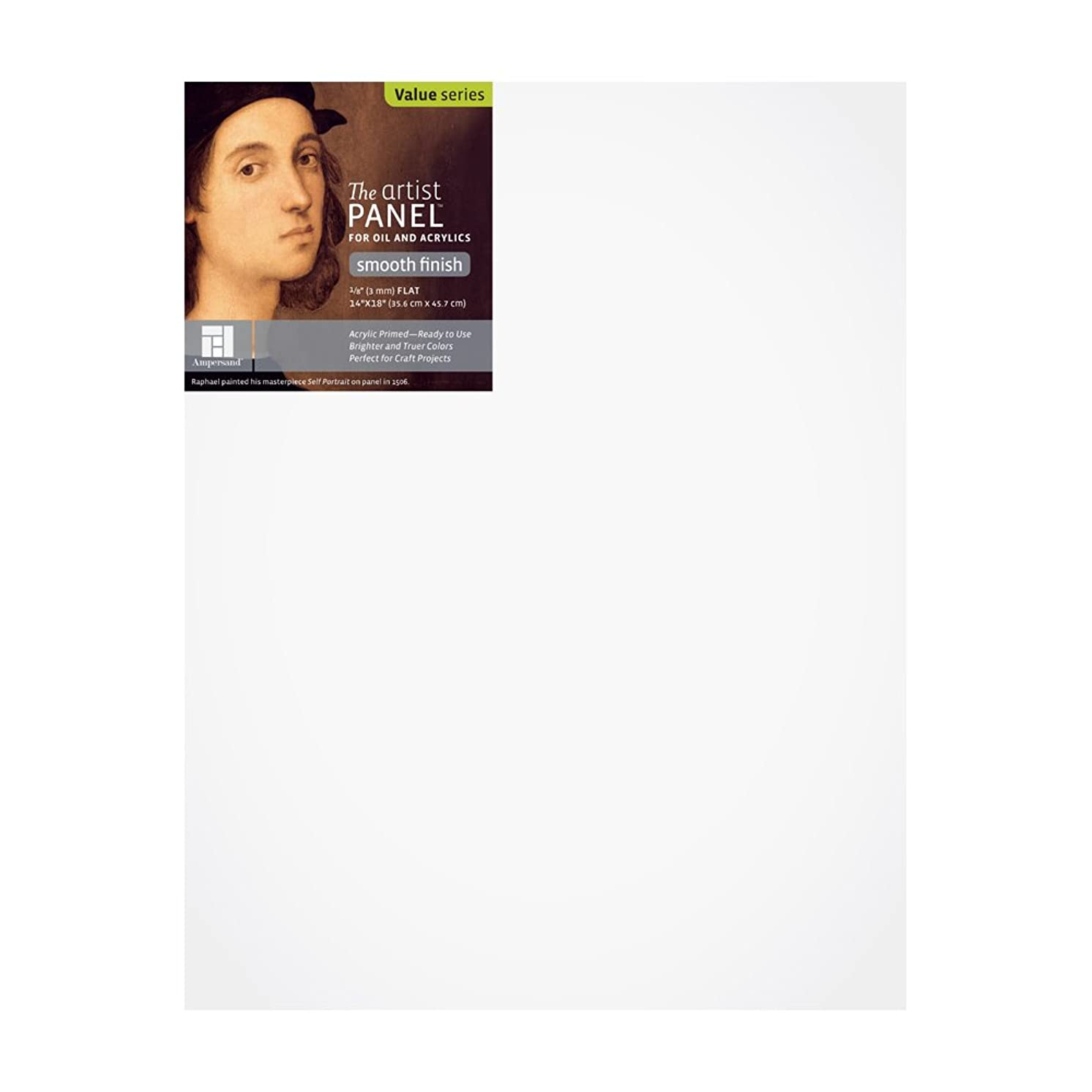 Value Wood Art Painting Panel Primed Smooth by Ampersand 1/8
