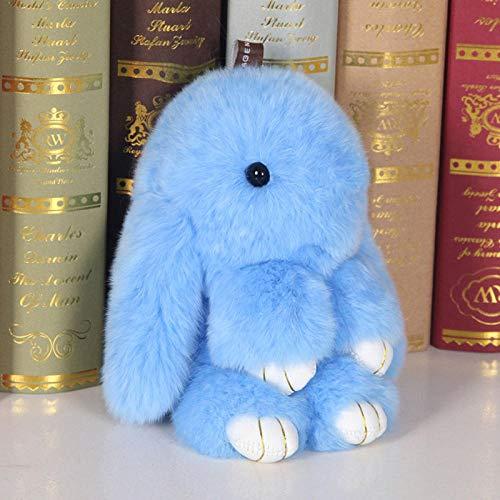 SILENCE Juguete de Peluche de Conejo Muñeca de Peluche Amante Amigo Lindo Conejo Colgante Bolsa Joyería-18Cm_Sky