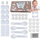 Baby Proofing Magnetic Cabinets Lock 10-2 Keys -12 Corner Protectors -10 Outlets Plug Cover - 4 Safety Locks Drawer Latches Childs Proof Safety Proofing.