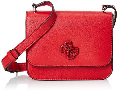 Guess Noelle Mini Crossbody Flap, Backpack para Mujer, Rojo, Talla única