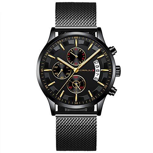Relógio Masculino Cuculo 2261 Homem Relógio De Pulso De Quartzo Função Luminosa Cronógrafo Minutos Segundos Calendário Display Alloy Case Male Watch
