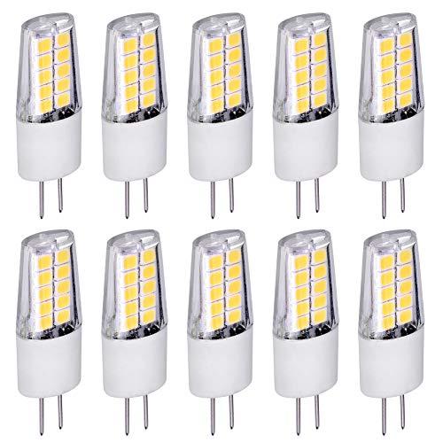 10x G4 LED Leuchtmittel 3W 12V AC/DC warmweiß 2900K Lampen Stecklampe Halogen ersatz SMD 260 Lumen Ø13mm 10er Pack