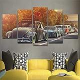 Angle&H Segeltuch Bilder Zuhause Dekor Wandkunst 5 Stücke