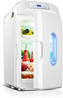 35L Mini Fridge, Dual Core Cooled LCD Display, Suitable for Beer Food and Milk Fruit Cooling, Suitable for Indoor, Car, Of...