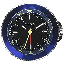 Bulova Classic Travel Clock, Silver