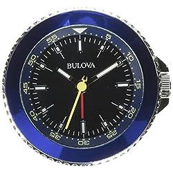 Bulova B6126 Classic Travel Clock, Silver